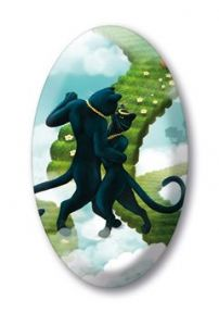Black Cats Lovers Crystal Magnet
